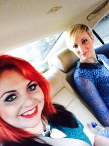 sera and frankie on way to red carpet event